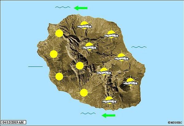 Carte météo 4 décembre 2019