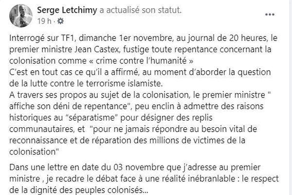 capture écran facebook letchimy