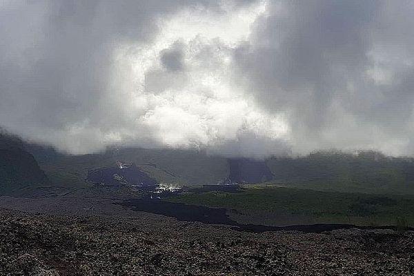 Volcan fin de l'éruption 16 février 2020