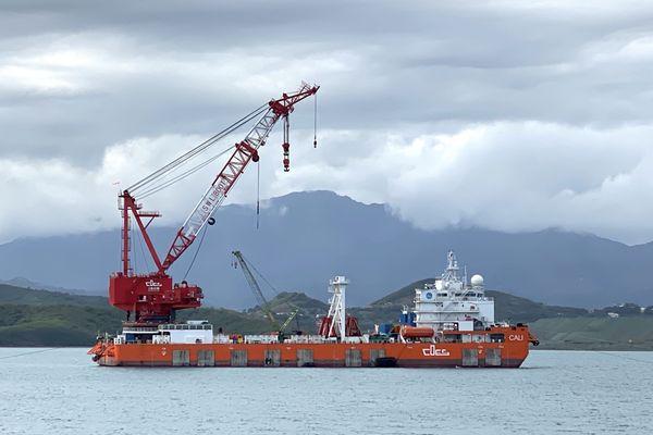 Barge Cali pour le Kea Trader