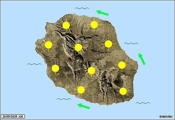 Carte météo 25 septembre 2020