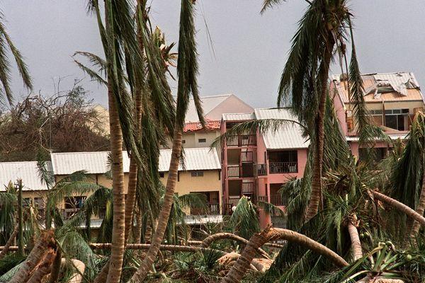 Après le passage du cyclone Hugo au Gosier