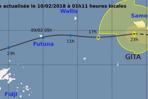 dépression tropicale modérée Gita samedi 10 février 2018