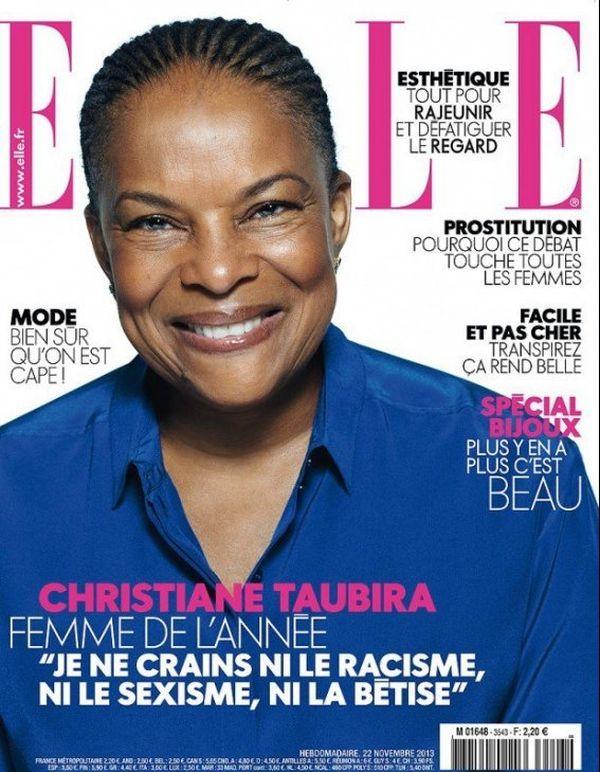 Taubira en Une du magazine ELLE le 22 novembre 2013.