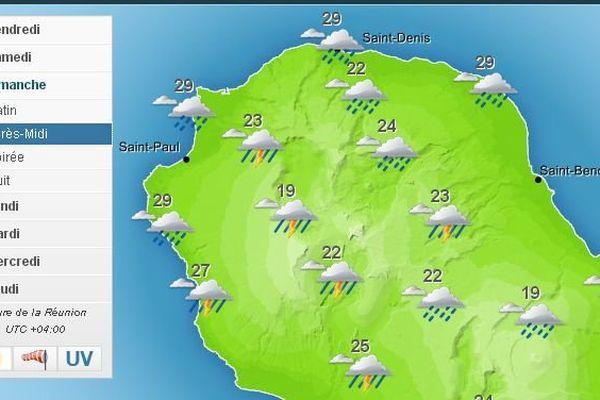 carte météo samedi mars 2015
