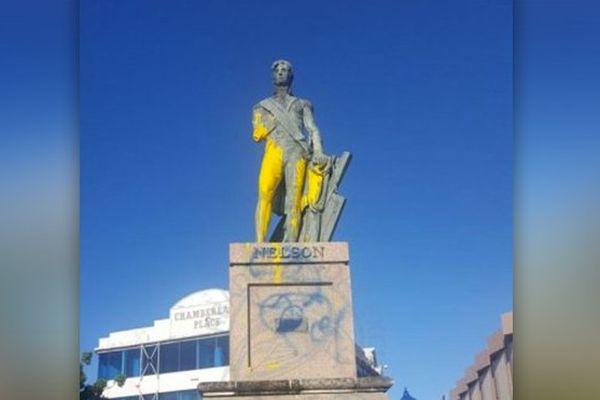 Barbade : La statue de l'Amiral Horatio Nelson défigurée