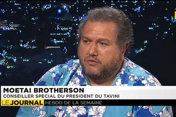 Moetai Brotherson était l'invité du journal de ce dimanche soir.