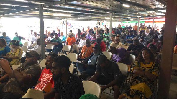 Rassemblement populaire initié par le FLNKS à Grondu, Ponérihouen, 16 janvier 2021