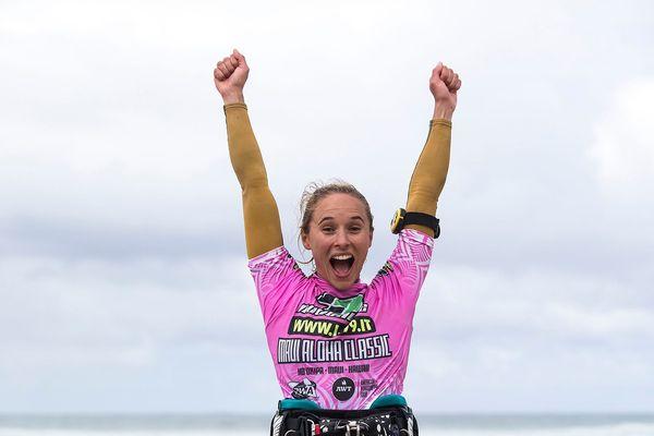 La Calédonienne Sarah Hauser double championne de l'American Windsurfing Tour
