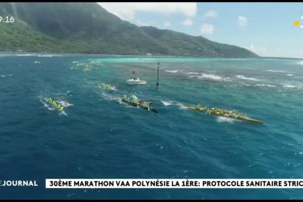 Une centaine d'équipages en course pour le marathon va'a Polynésie la première