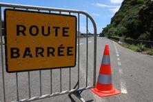 Fermeture de la Route du Littoral.