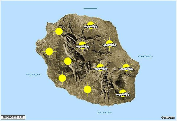 Carte météo 28 août 2020