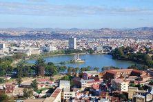 Image aérienne de la ville d'Antananarivo, capitale de Madagascar