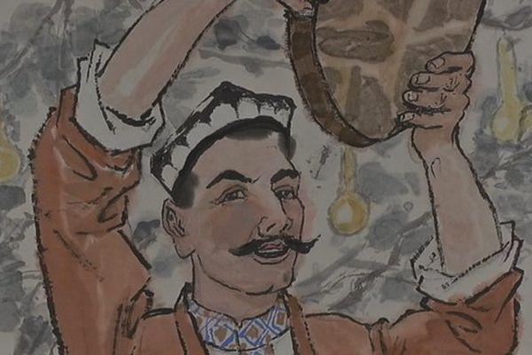 un musicien Ouïghour
