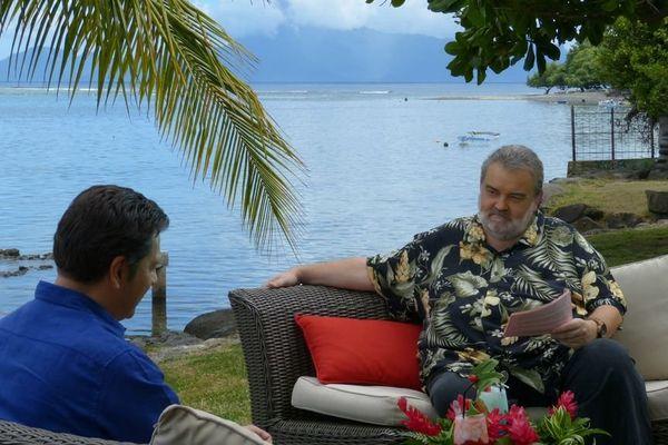 Laurent Gerra au Méridien à Tahiti, interviewé par Lolo pour Polynésie 1ère 6