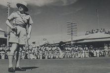 Félix Broche et le Bataillon du Pacifique à Nouméa avant leur départ pour le front