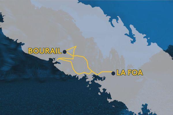 étapes Tour Air france 2019 : bourail la foa