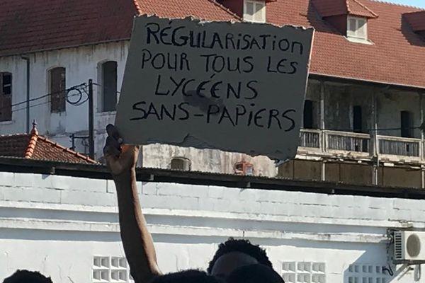 Manifestation des lycéens