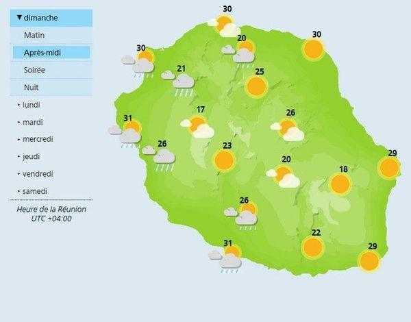 Carte météo après-midi 130119