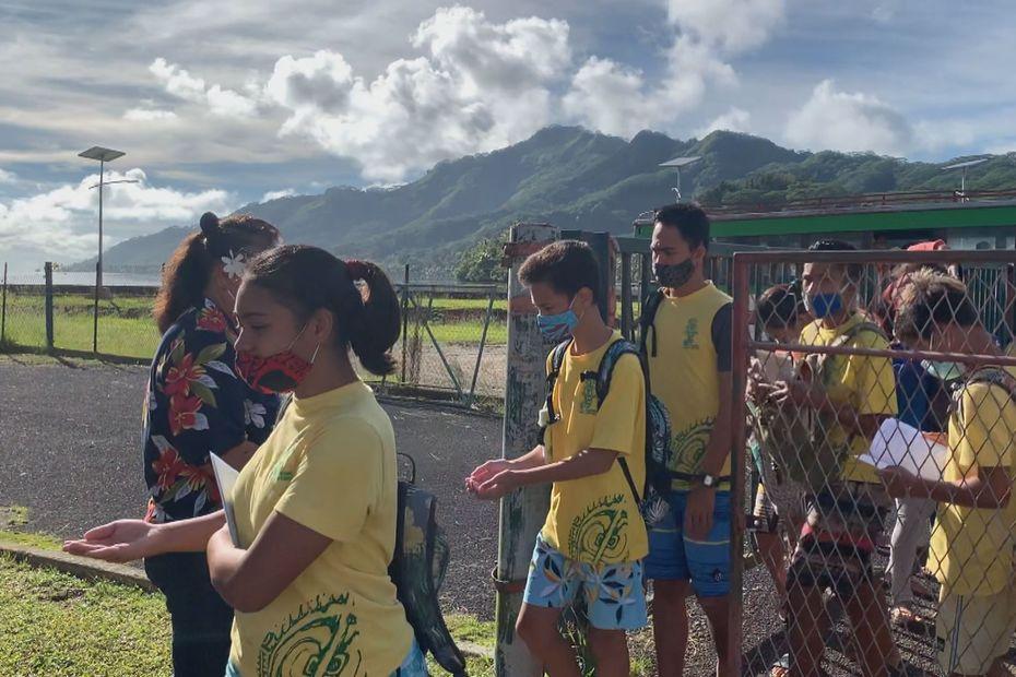 Le collège de Tahaa, frileux au coronavirus - Polynésie la 1ère