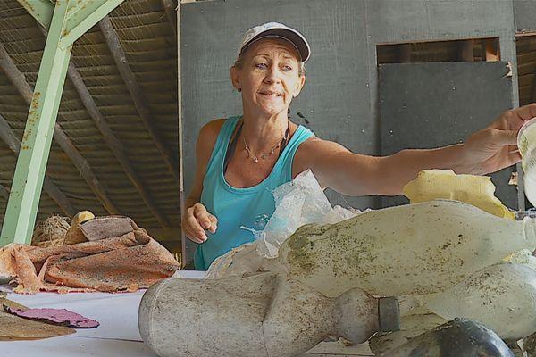 Tetiaora : sous la plage, des déchets