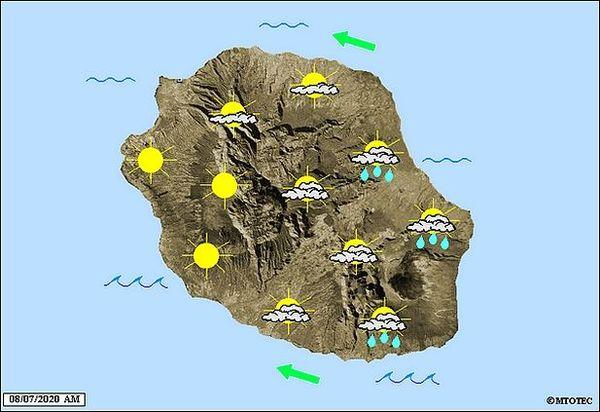 Carte météo 8 juillet 2020