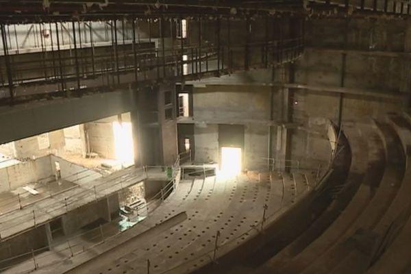 image d'étape de la future grande salle du Centre des arts