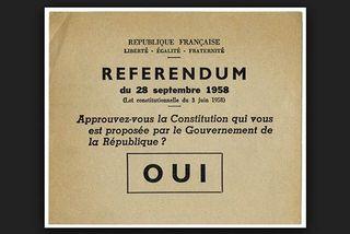 Bulletin de vote du référendum de 1958