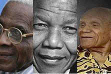 De gauche à droite : Aimé Césaire, Nelson Mandela, Pierre Aliker