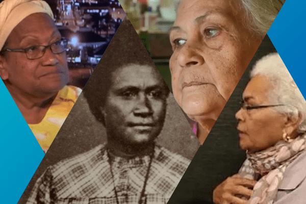 Femmes calédoniennes : Marie-Claude Tjibaou, Déwé Gorodey, Reine Hortense, Mamie Fogliani
