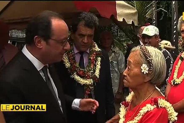 François Hollande séduit par la vanille de Raiatea