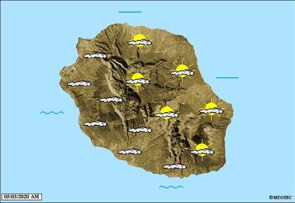 Carte météo 5 mars 2020