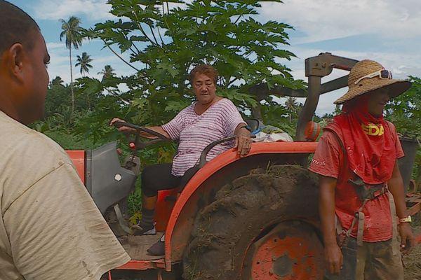 Célina, agricultrice