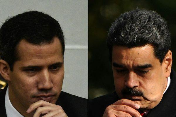 Nicolas Maduro et Juan Guaido