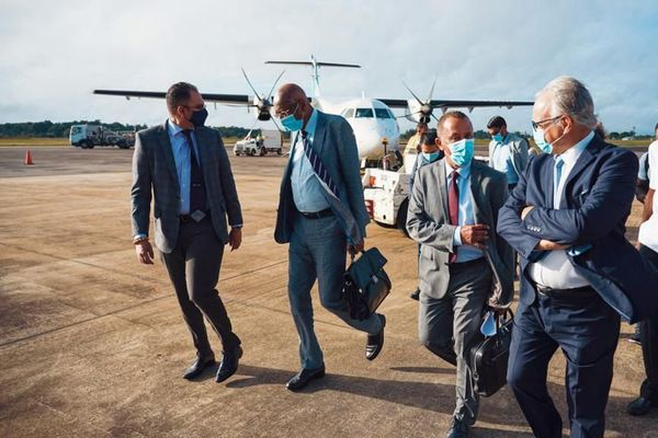 Arrivée au Surinam