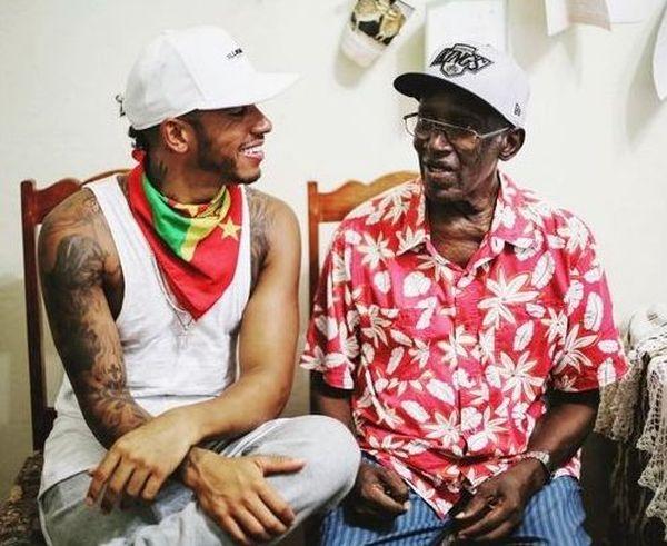 Lewis Hamilton et grandpere