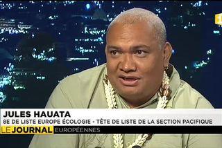 Jules Hauata, candidat sur la liste Europe Ecologie les verts, invité du JT