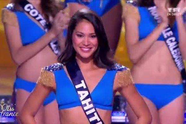 Hinarere Taputu parmi les 5 finalistes - Election Miss France 2015