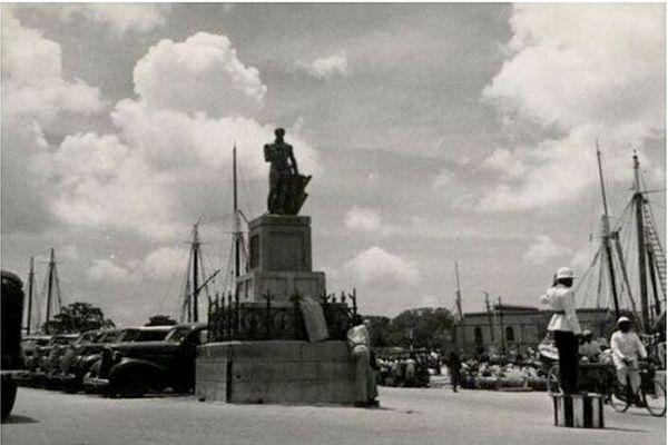 statue de l'Amiral Nelson à Bridgetown