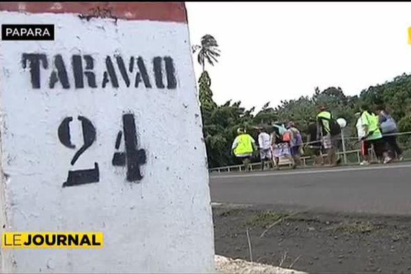 350 jeunes catholiques ont marché entre Papara et Papeari