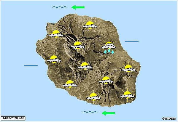 Carte météo 14 octobre 2020