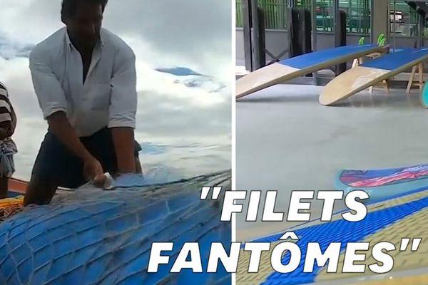 Inde : une entreprise transforme des filets de pêche trouvés dans l'océan en planche de surf