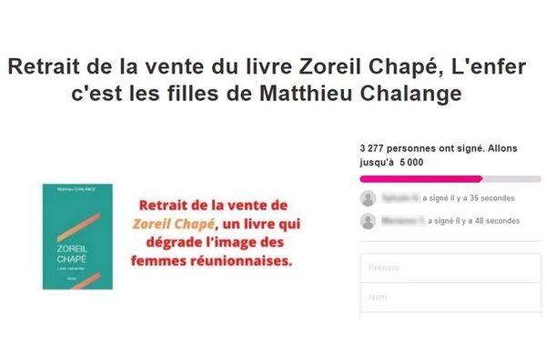 Pétition livre Zoreil Chapé