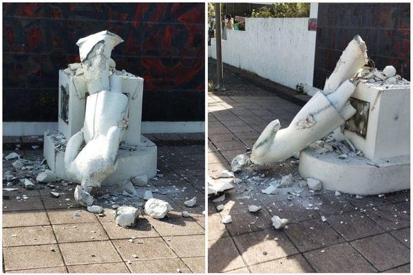 Statue détruite à Schoelcher