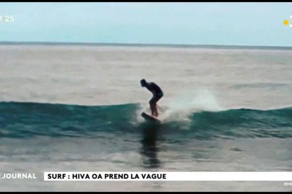 Surf quatre en un à Hiva Oa