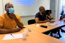 Le président Haïroudine Anzizi (en polo bleu marine) et son bureau ont dû adapter le calendrier de la saison en fonction de la pandémie et des compétitions extérieures.