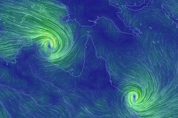 deux cyclones Australie