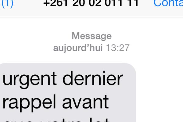 arnaque sms capture