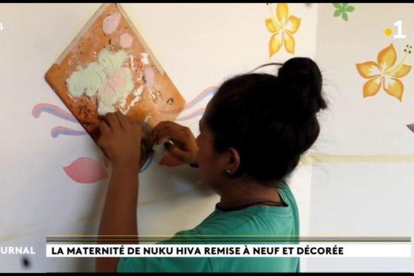 Les collégiens de Taiohae embellissent la maternité de Nuku Hiva