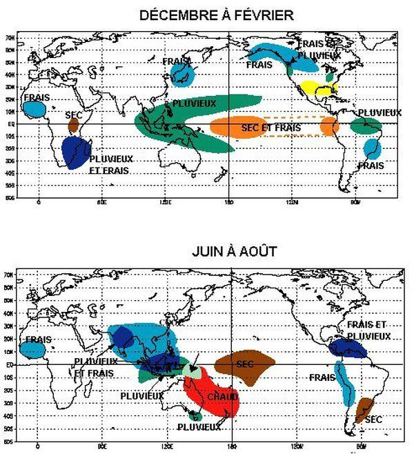 Les anomalies climatiques liées à La Nina